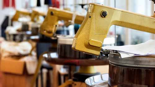 focused image of a robotic arm in a workshop