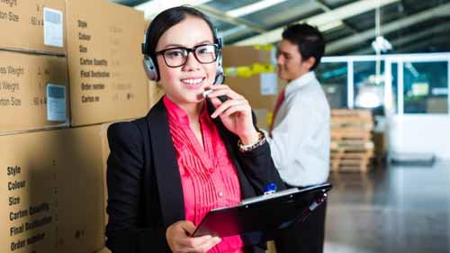 image of a woman working in the supply chain management