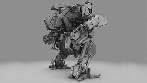 3D model of the Krieger 3 battle robot