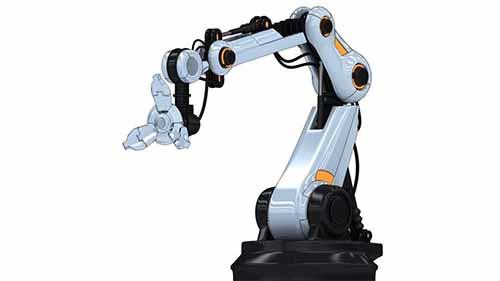 3D model of an industrial robot arm