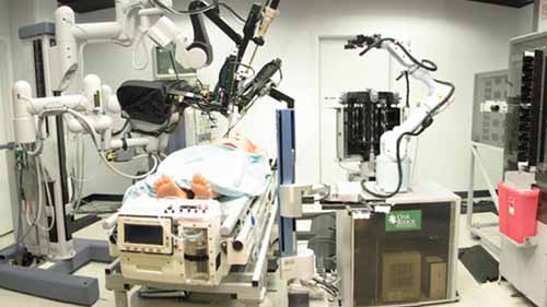An image of robots performing surgery
