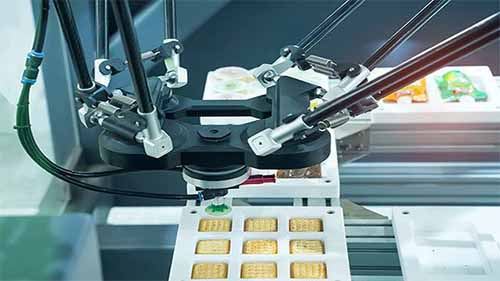 Robots operating in food industry