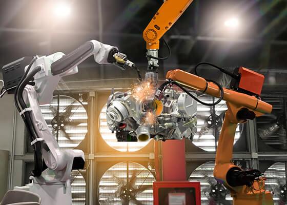 Welding automation robots