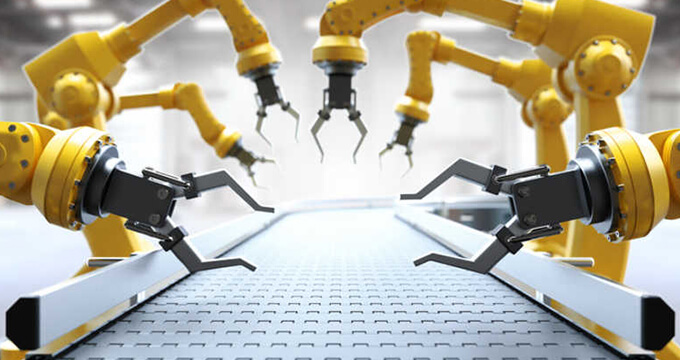 A focused view of manufacturing robots