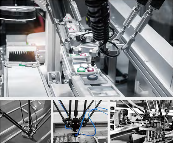Automatic robot in assembly line