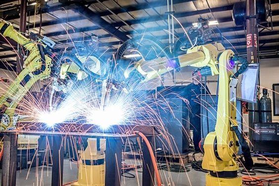 Robotic Welding in Progress