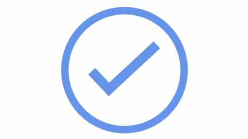 A tick symbol