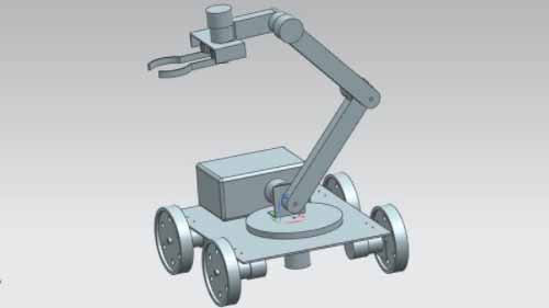 Pick and place robot arm