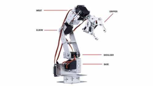 Parts of a robot arm
