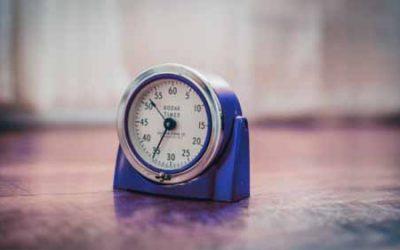 A blue Kodak timer