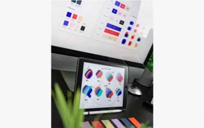 Color palettes on a screen