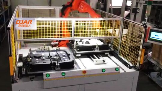Ultrasonic welding of engine cover soundproof cotton